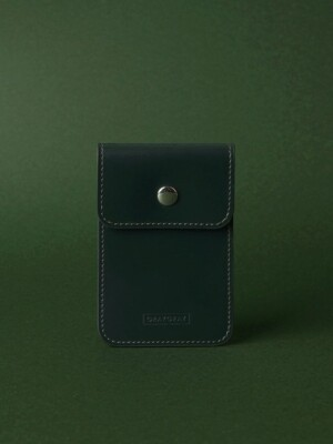 Button Card Wallet Dark Green