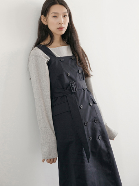 Double Trench One-piece - Navy