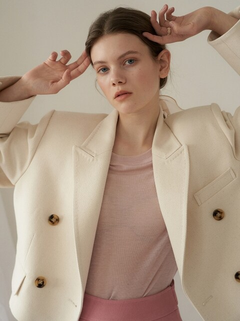 crop tailored jacket_natural ivory