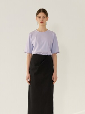 JUDE Cotton T-Shirt(LAVENDER)