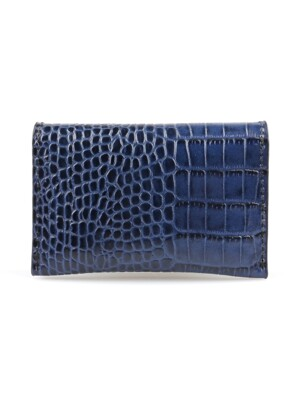 Card Wallet_Crocodile Blue