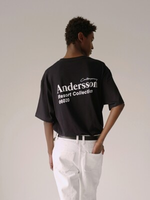 UNISEX ANDERSSON RESORT COLLECTION T-SHIRT atb316u(BLACK)