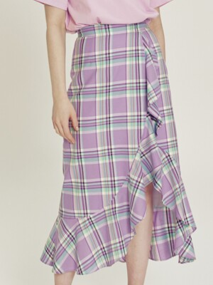 Cindy Gingham check ruffle skirt_SS3612PP