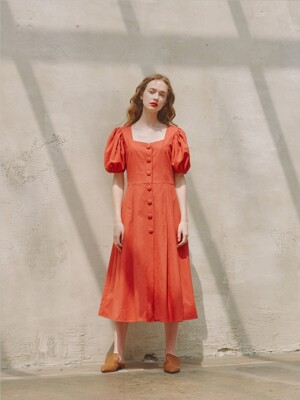 Alice Heart Neck Dress_Red