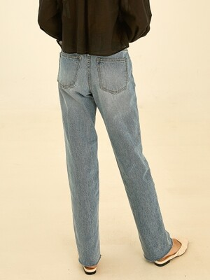 Retro straight denimm pants[light blue]