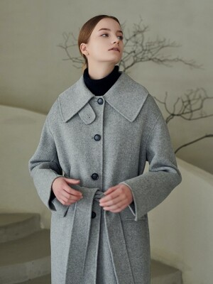 [단독] WOOL BLEND WIDE BALMACAAN HANDMADE COAT