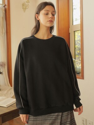 LINE SLEEVE SWEATSHIRT_BLACK