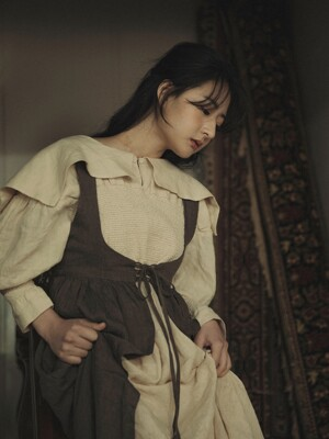커틀 코르셋 드레스 : Kirtle corset dress - grayish brown