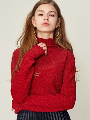17W GL TURTLENECK(RED)