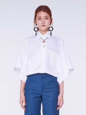 Winged Sleeve Blouse [WHITE]