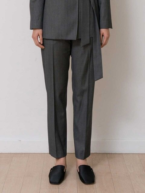 MINIMAL SLACKS (STRIPE GREY)