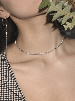 Box chain necklace (Silver)