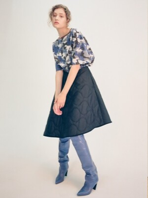 MILITARY PADDING SKIRT(BLACK)