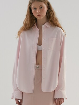 HIDDEN BUTTON SHIRTS (pink)