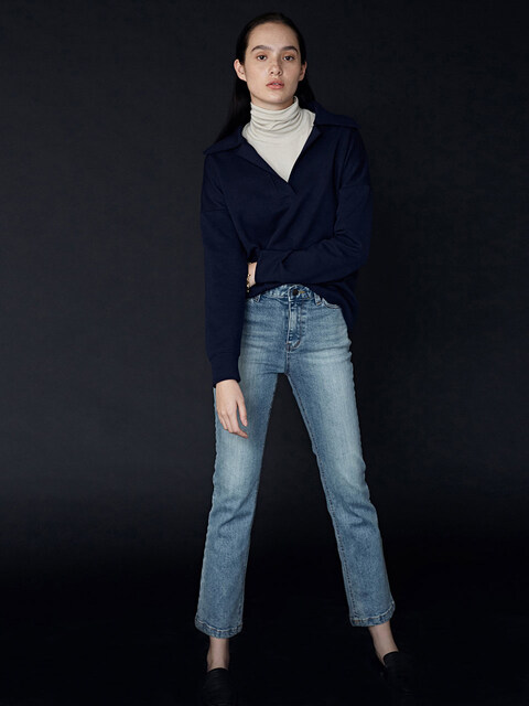 Light Wash Eve Kick Flare Denim