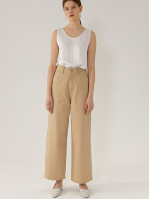 ERICA Wide Fit - High RiseDenim(BEIGE)