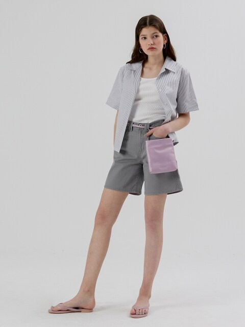 Cotton Half Pants [Grey]