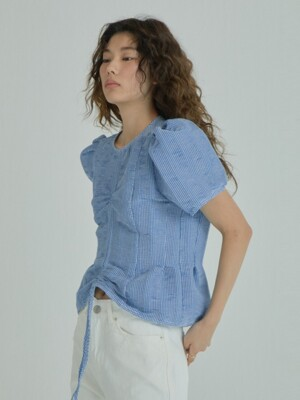 Puffy Volume Top_Blue