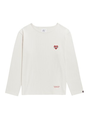 NOMANTIC LOGO BOAT NECK T-SHIRTS CREAM