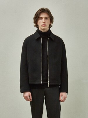 Woolen Single Jacket_Black