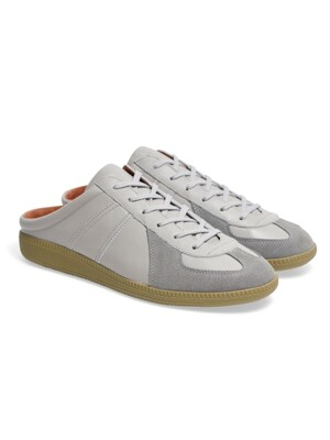 Louis Leather Mule Grey