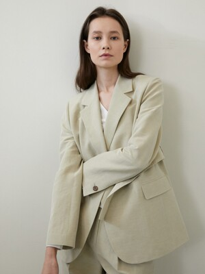 [단독] LINEN BELT JACKET 2COLOR