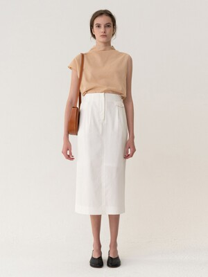 [ESSENTIAL] Original H-line Skirt White