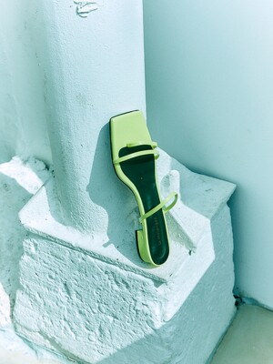 Diagonal strap Sliders_Lime [LMS209]