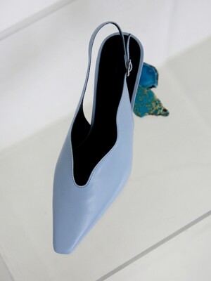 [at SALONDEJU] Wave Slingback - Baby Blue