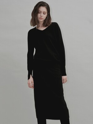 Cashmere Blend Wholegarments H line Skirt