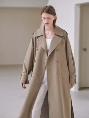 21SN double trench coat [BE]