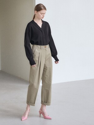 21SN cotton baggy pants [KA]