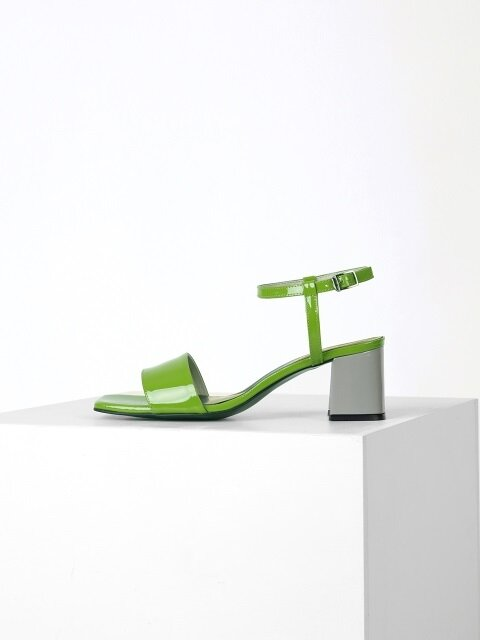 COLOR POINT SANDAL - YELLOWGREEN + GRAY