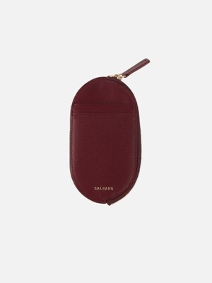 Oval Slim Card Wallet burgundy