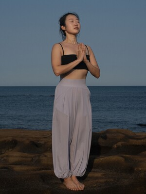 Half Banding Pants-Black