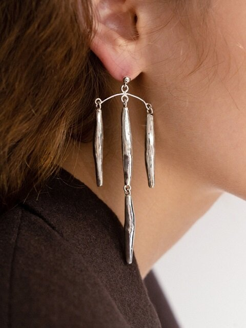 Dry seeds unbal earring