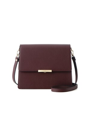 Rose cross bag (burgundy) - D1003WN