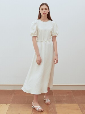 19summer resort dress white