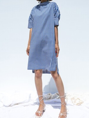 Gingham One Piece_BLUE