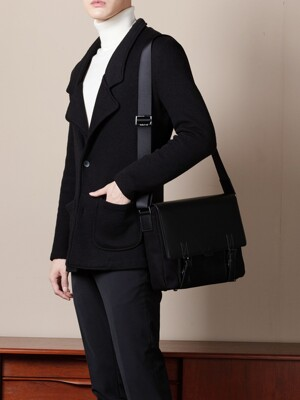 Polygon double belt crossbag [black]
