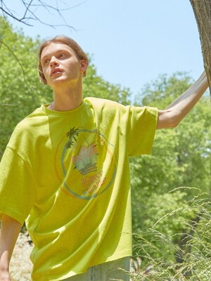 [DISNEYxORDINARYPEOPLE] summer vibe angry duck lime t-shirt