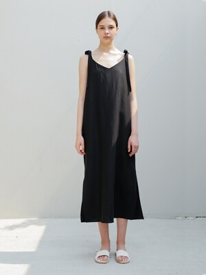 Linen Sundress/Black