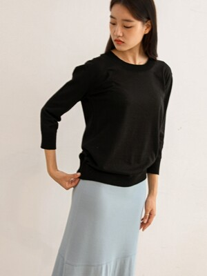 Cotton Basic Pullover (Black)