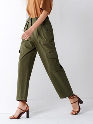 COTTON CARGO PANTS KHAKI