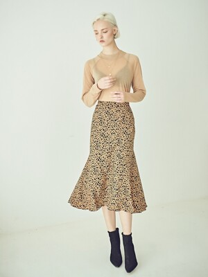 RAINBOW SKIRT LEOPARD Brown