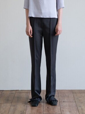19FW SLIT-CUFF TROUSERS (GRAY)