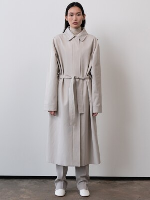 belted trench coat (ecru)