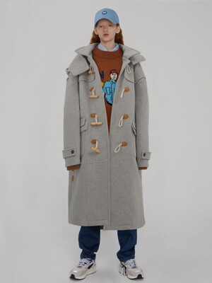 Rudy duffle coat Grey