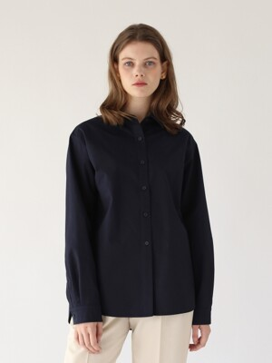 Wide-fit shirt ( Dark navy )