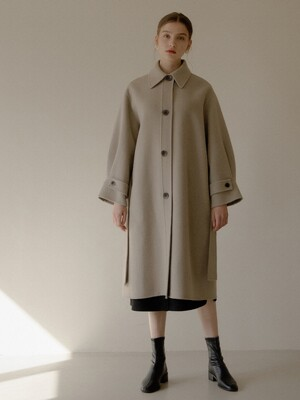 OVER HANDMADE COAT_KHAKI BEIGE